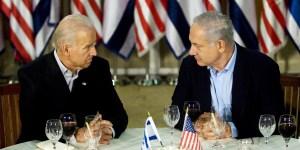 Joe Biden y Benjamín Netanyahu