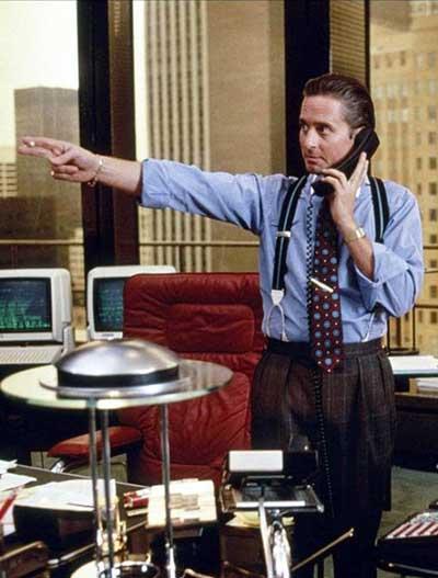 Gordon Gekko de 'Wall Street'