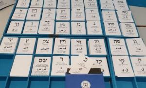 Papeletas de las elecciones de Israel