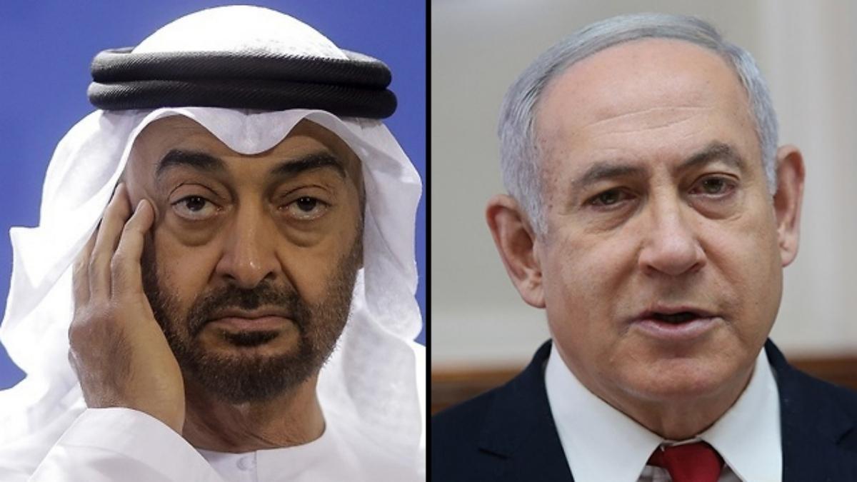 El príncipe heredero de los Emiratos, Mohammed bin Zayed y el primer ministro de Israel, Benjamín Netanyahu
