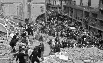 A las 14:45 horas del 17 de marzo de 1992, una poderosa bomba destrozó el edificio de la Embajada de Israel en Buenos Aires