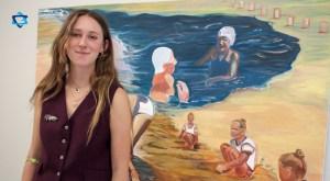 "Paulina Freifeld presentó su exposición, ""Extranjenos"", que esta exposición es un proyecto, que se inspira en sus antepasados judíos"