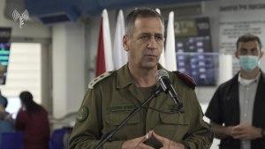 Debido a la escalada en curso en la Franja de Gaza, el Jefe de Estado Mayor de las FDI, el Teniente General Aviv Kojavi retrasó su viaje a EE. UU.