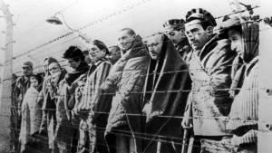 Prisioneros de un campo de concentración nazi