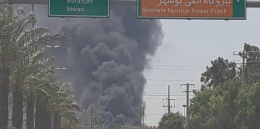 Incendio de gran magnitud estalla cerca de central nuclear de Bushehr en Irán