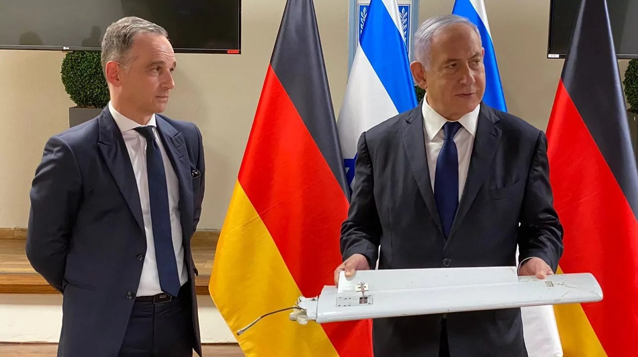 Heiko Maas y Benjamín Netanyahu