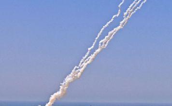Cohetes disparados desde Gaza contra Israel