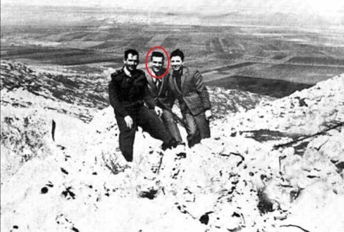 Eli Cohen en su visita a los Altos del Golán.
