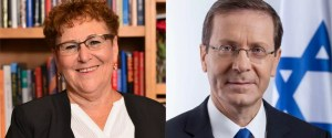 Yitzhak Herzog y Miriam Peretz