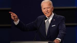 Hasta que la región diga inequívocamente que reconocen el derecho de Israel a existir como un estado judío independiente, no habrá paz, dijo Joe Biden