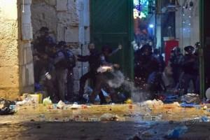 Choque entre palestinos e israelíes