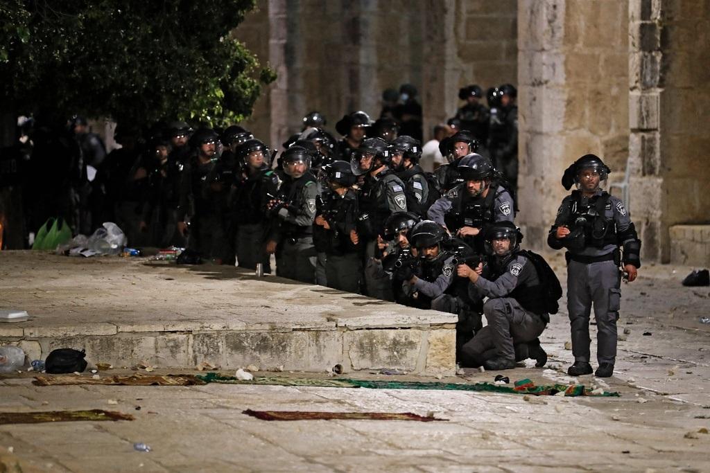 Policías israelíes en el Monte del Templo