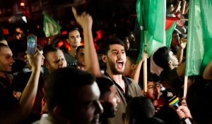 Palestinos simpatizantes de Hamás