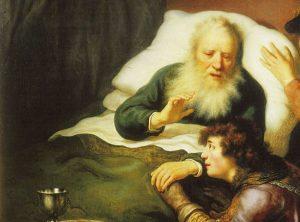 Isaac y Esaú: Isaac bendiciendo