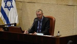 Yariv Levin, presidente de la Knéset