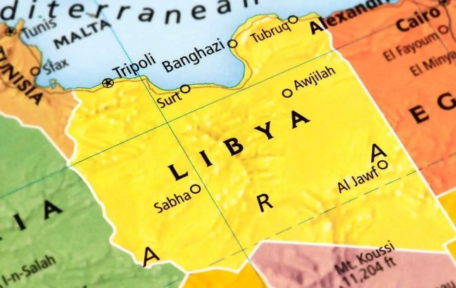 Mapa de Libia