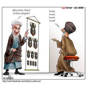 ibrahim raisi , presidente electo,y el ayatollah ali khamenei, lider supremo de Irán