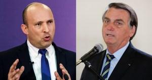 Naftali Bennett y Jair Bolsonaro