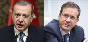 Recep Tayyip Erdogan e Yitzhak Herzog