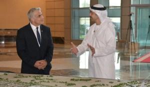 Yair Lapid y Mohammed bin Zayed al Nahyan