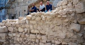 Restos de muro hallado en Jerusalén