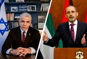 El ministro de Relaciones Exteriores de Israel, Yair Lapid se reunió con el Viceprimer ministro y ministro de Relaciones Exteriores de Jordania, Ayman Safadi
