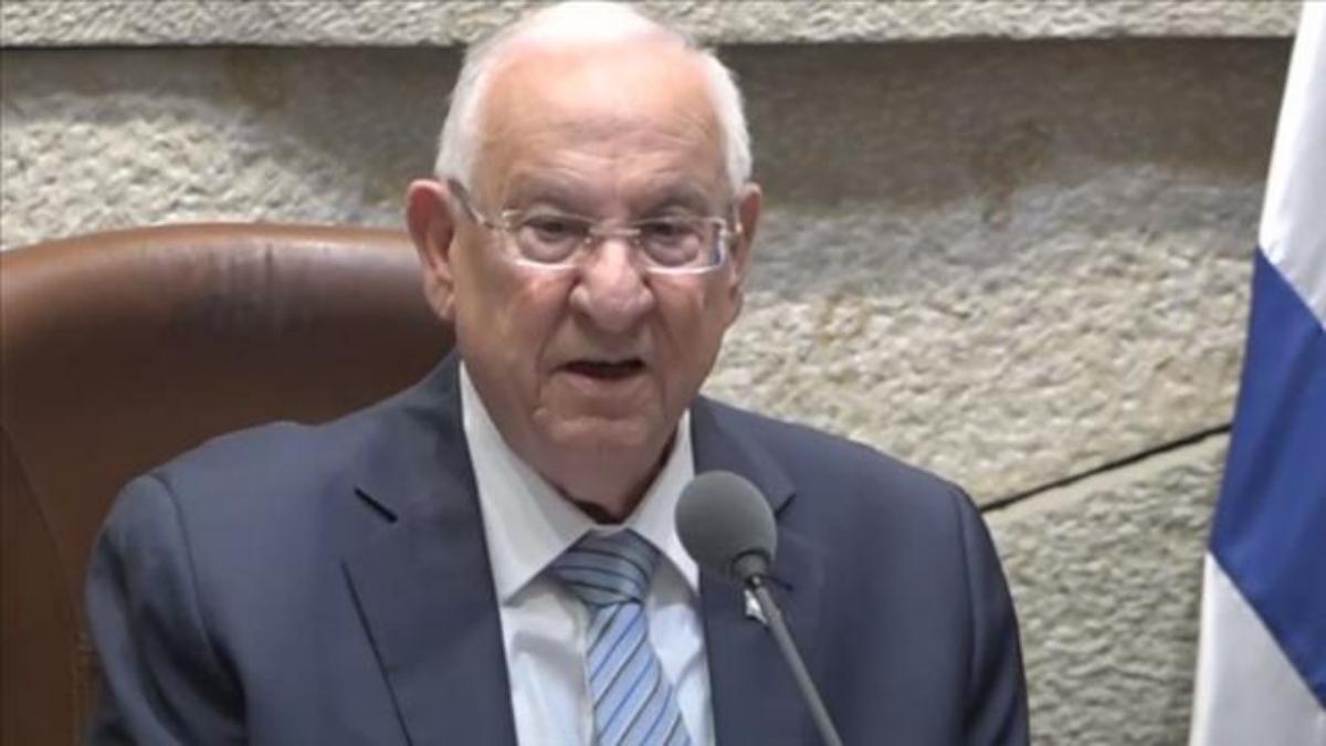 Presidente saliente de Israel, Reuven Rivlin