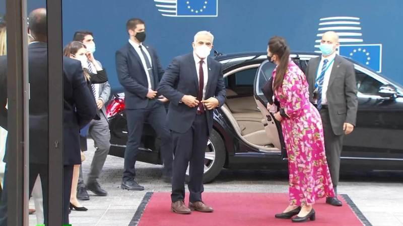 El Ministro de Relaciones Exteriores de Israel, Yair Lapid se reunió con el Consejo de Asuntos Exteriores de la UE