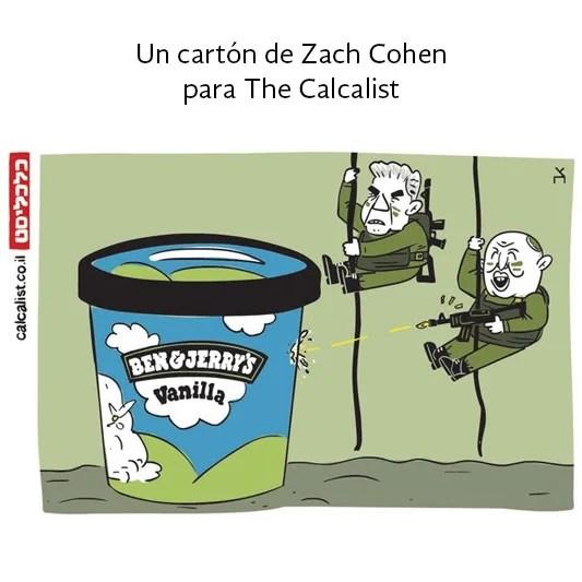 Bennett y Lapid bajan con metralletas para defender a Israel contra la nueva amenaza: los helados Ben & Jerry's