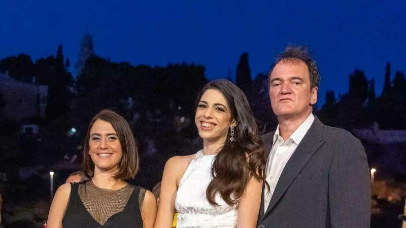 Daniella y Quentin Tarantino con Noa Regev, Festival de Cine de Jerusalén