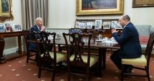 Joe Biden y Naftali Bennett