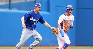 Jugadores de béisbol de Israel y Corea del Sur