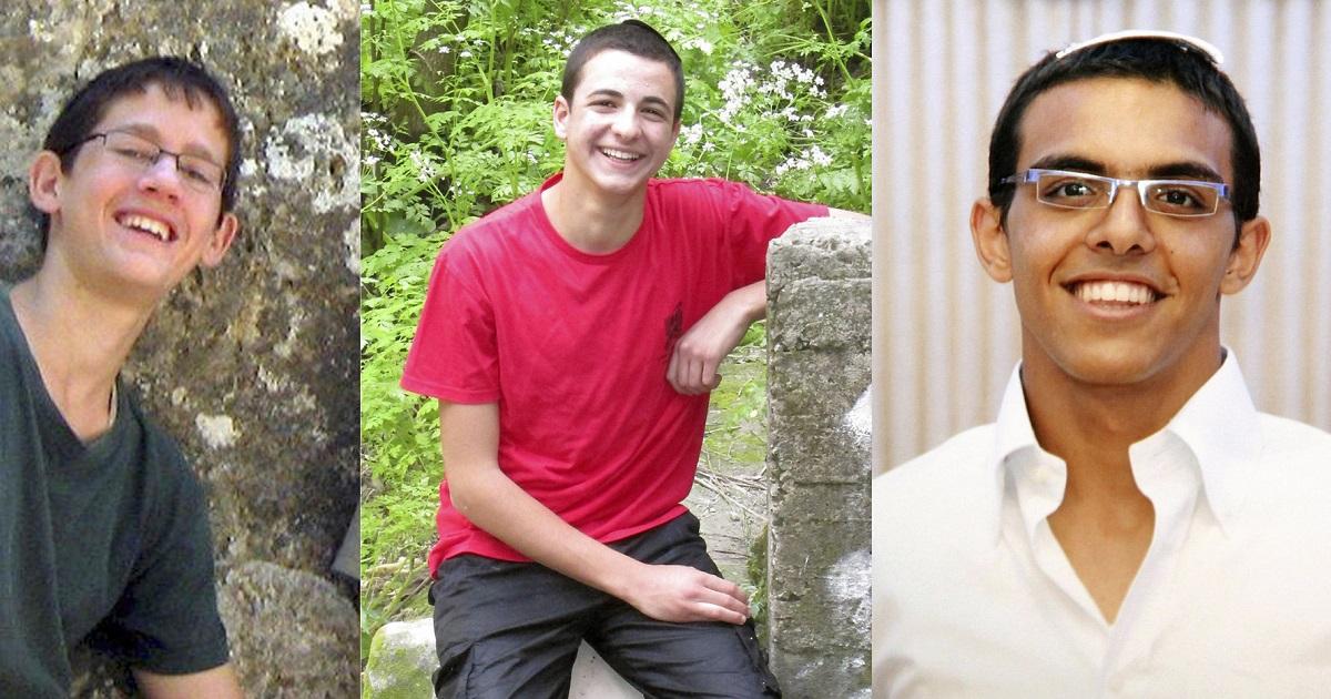 Naftali Fraenkel, Gilad Shaar y Eyal Yifrach