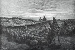 Abraham llega a la tierra de Canaan, identificando y obedeciendo la Voz divina, asume el compromiso de seguir a Dios y pasa la primera prueba