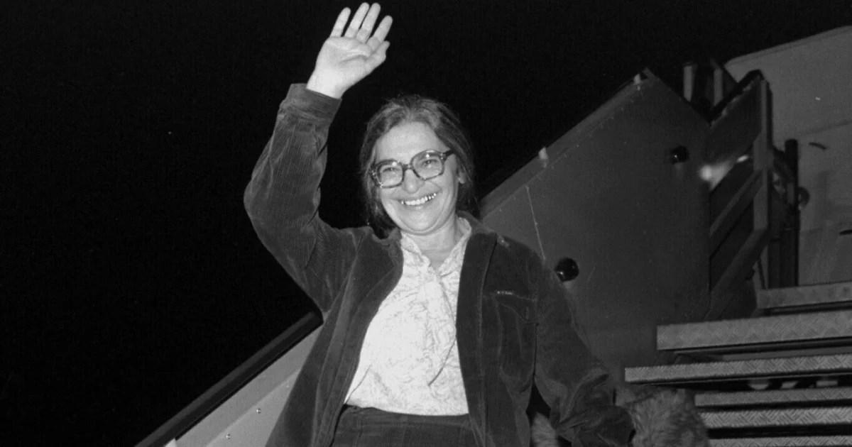 Ida Nudel arriba a Israel en 1987