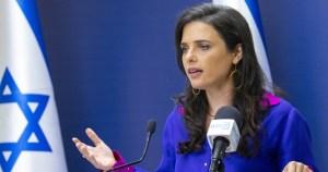 Ministra del Interior, Ayelet Shaked