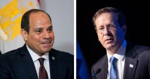 Yitzhak Herzog y Abdel Fatah el Sisi