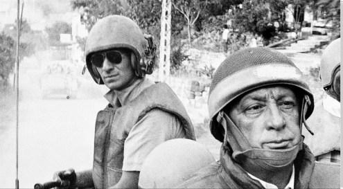 Ariel Sharon en Líbano, 1982, el año de la masacre deSabra y Shatila