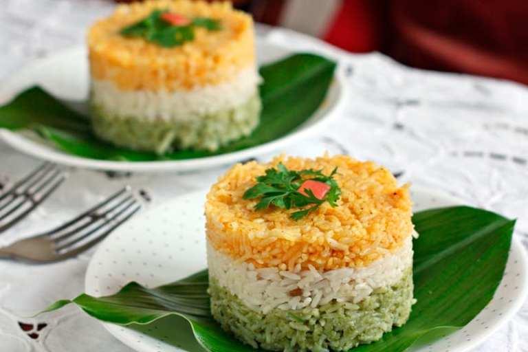 arroz tricolor