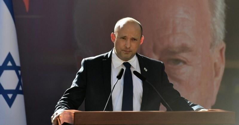 Primer ministro de Israel, Naftali Bennett en la ceremonia estatal con motivo del 26 aniversario del asesinato de Rabin