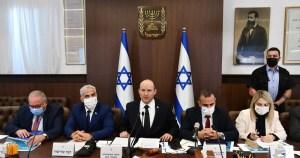 Primer ministro de Israel, Naftali Bennett en la reunión semanal del gabinete-COVID-19