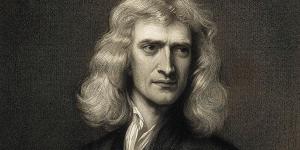 Foto de Isaac Newton en Blanco y Negro