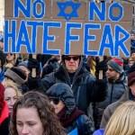 Manifestación contra el antisemitismo