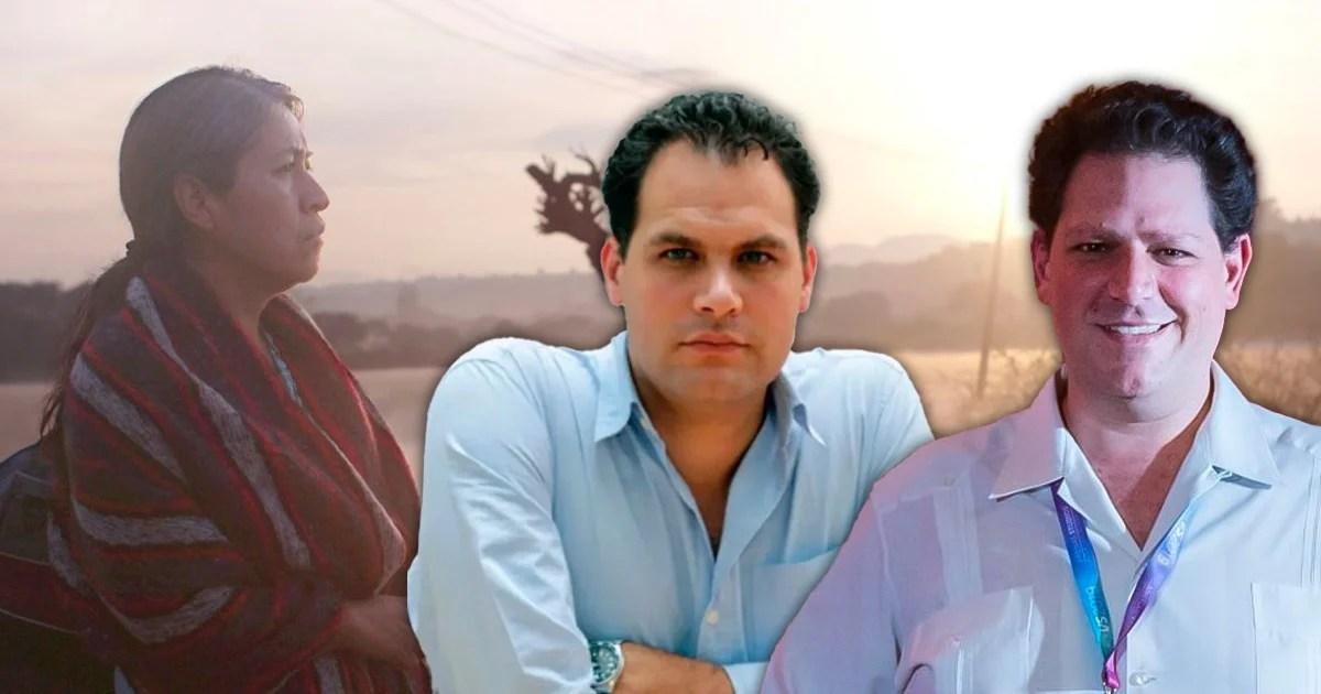 """Yossi y Jack Zagha con fondo de la película """" Sin señas particulares"""""""