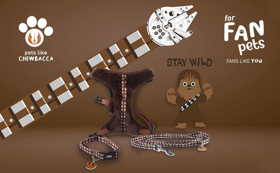 Complementos de paseo para mascotas frikis de FanPets Chewbacca Star Wars