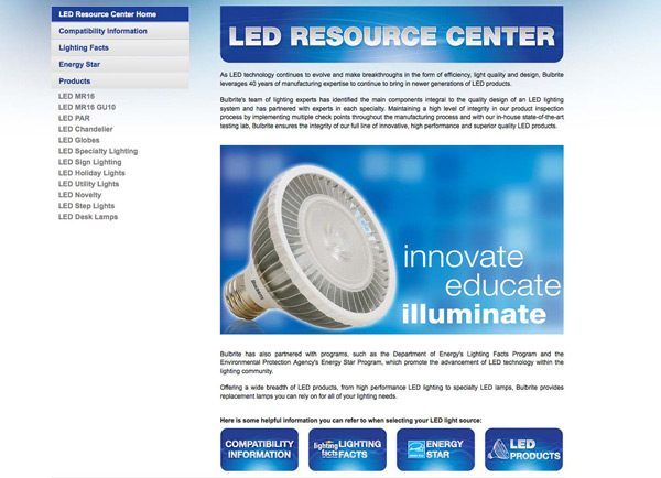 enLightenment Lighting Reporting on Bulbrite LED Resource Center