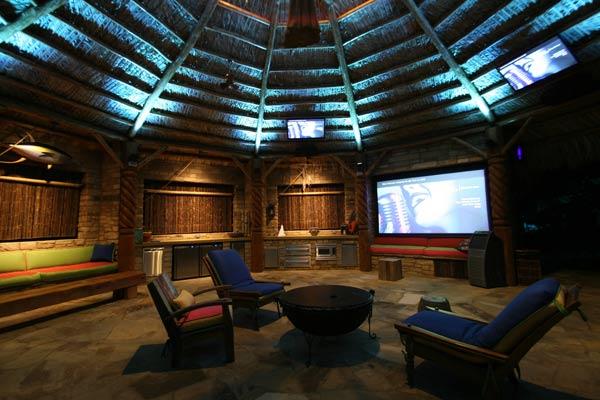Andy Burns, lighting designer: lakeside tropical retreat lighting