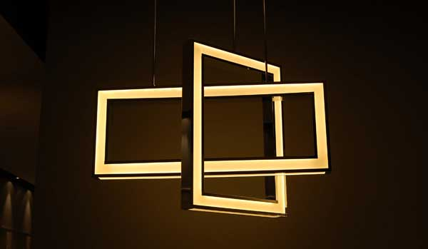 Nuvo: LED-powered geometric ceiling fixtures that are super slim and evenly lit.