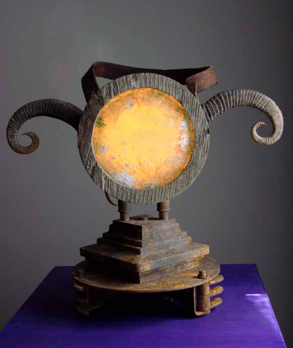 Residential Lighting:Steampunk: Ram Horn Lantern by Art Donovan