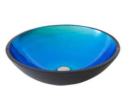 enLightenment Home Lighting Kirchen and Bath: Rovato Blue Stone glass sink by Modono